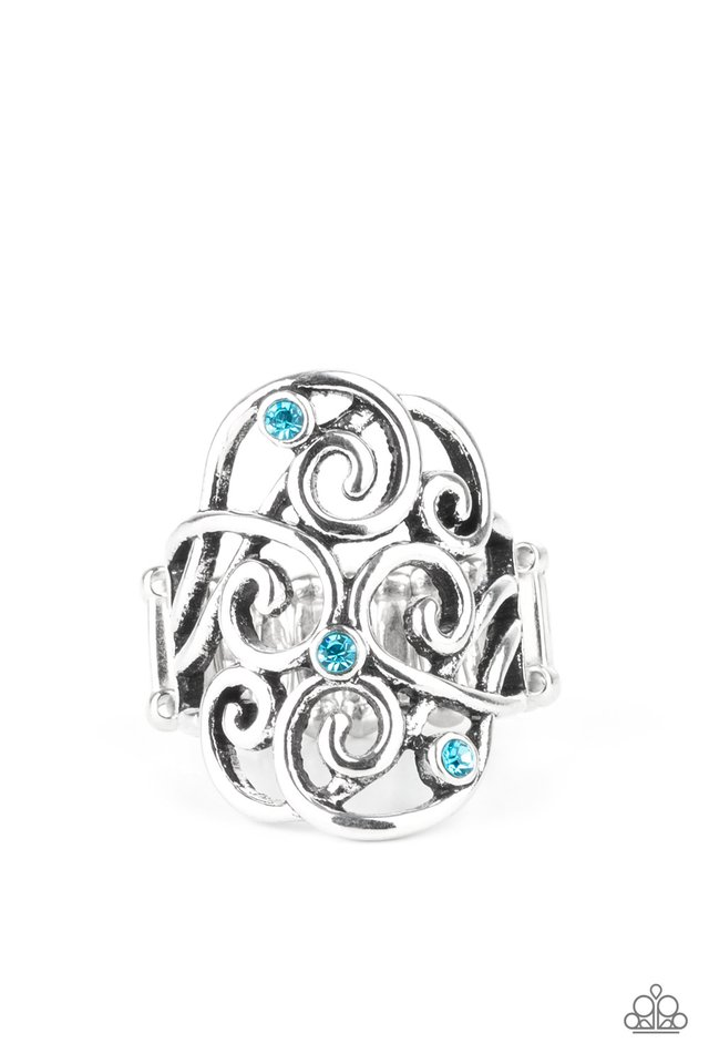 FRILL Out! - Blue - Paparazzi Ring Image