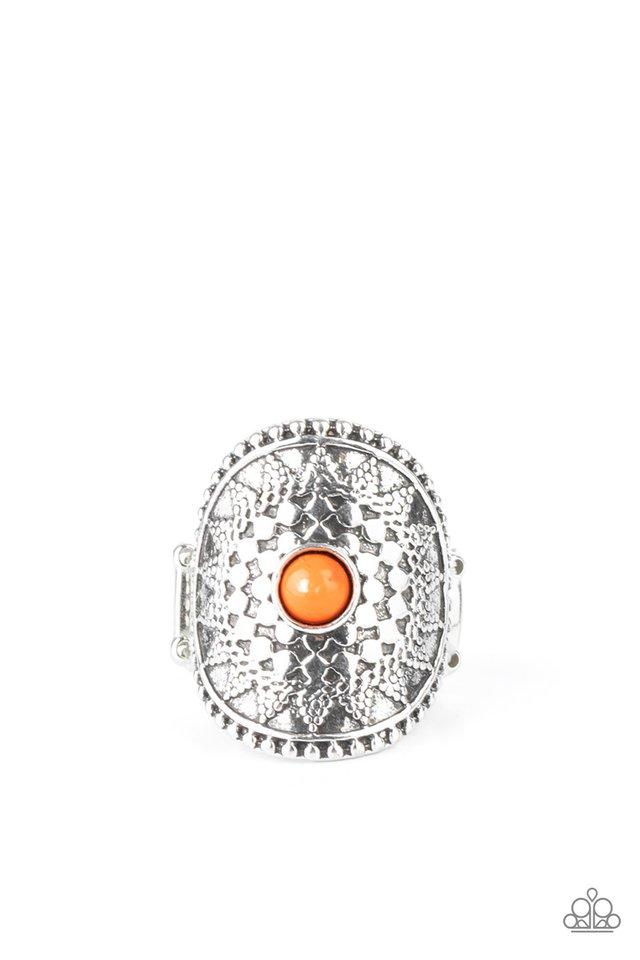 Mojave Rays - Orange - Paparazzi Ring Image