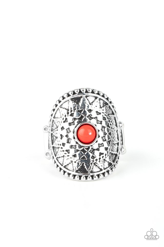 Mojave Rays - Red - Paparazzi Ring Image