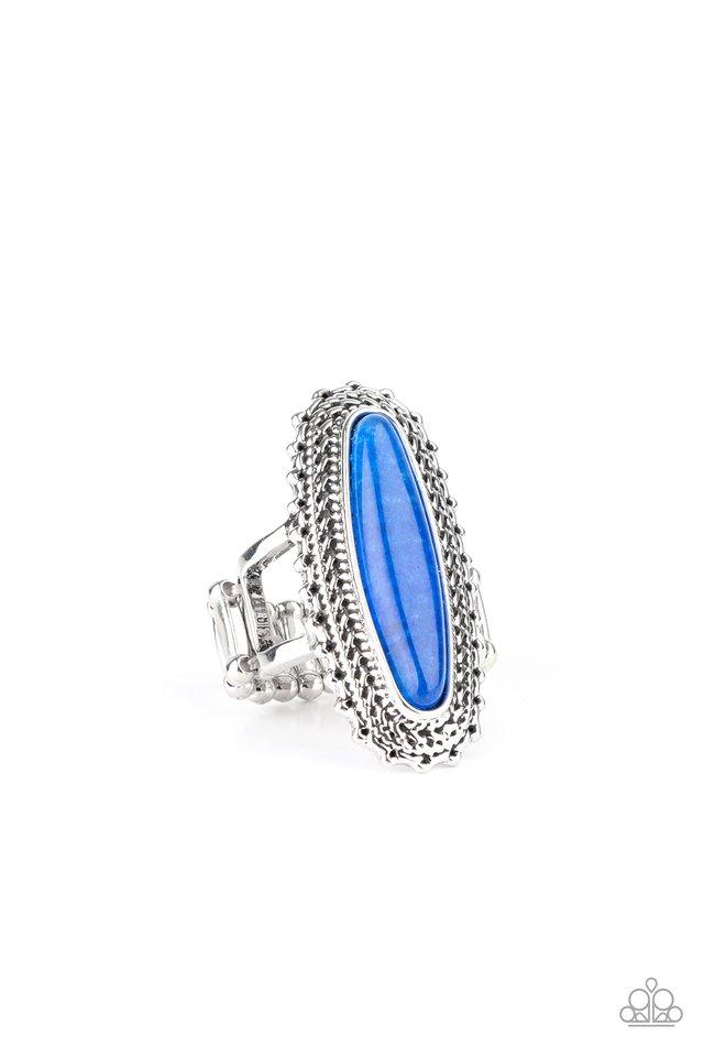 Mystical Mecca - Blue - Paparazzi Ring Image
