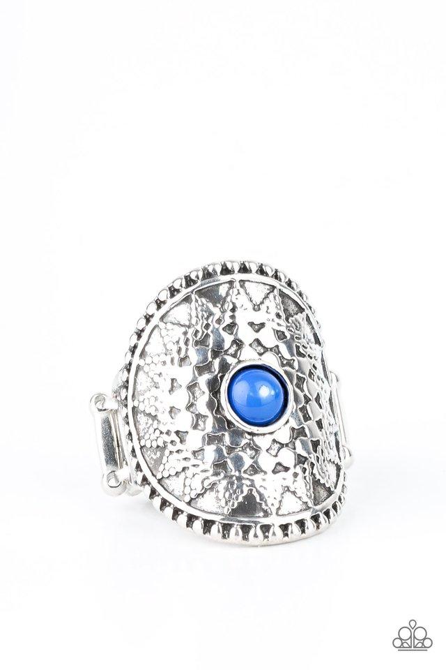 Mojave Rays - Blue - Paparazzi Ring Image