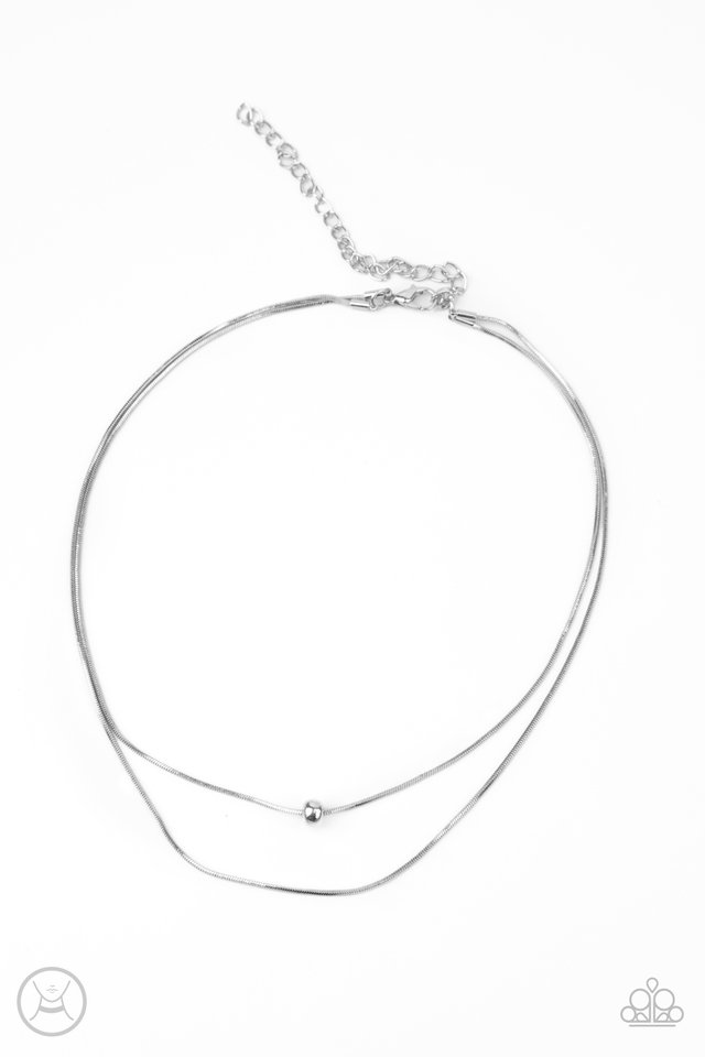 Super Slim - Silver - Paparazzi Necklace Image
