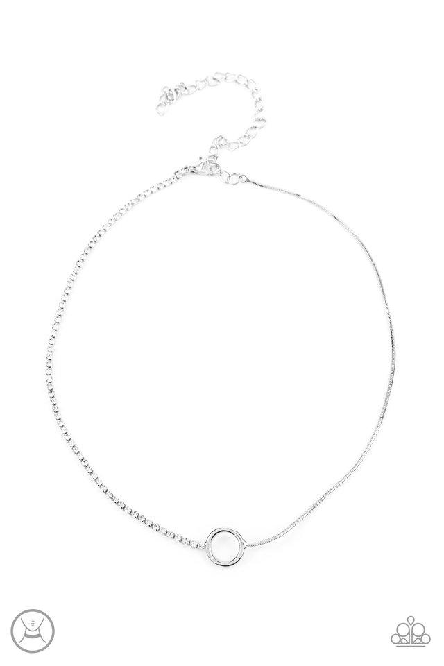 Gotta Split - White - Paparazzi Necklace Image