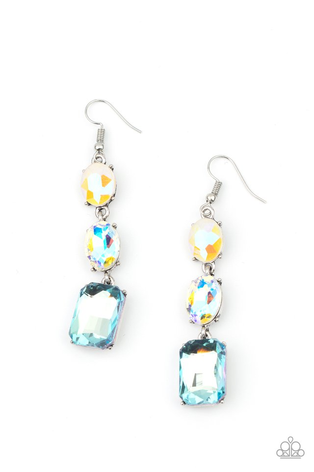 Dripping In Melodrama - Blue - Paparazzi Earring Image