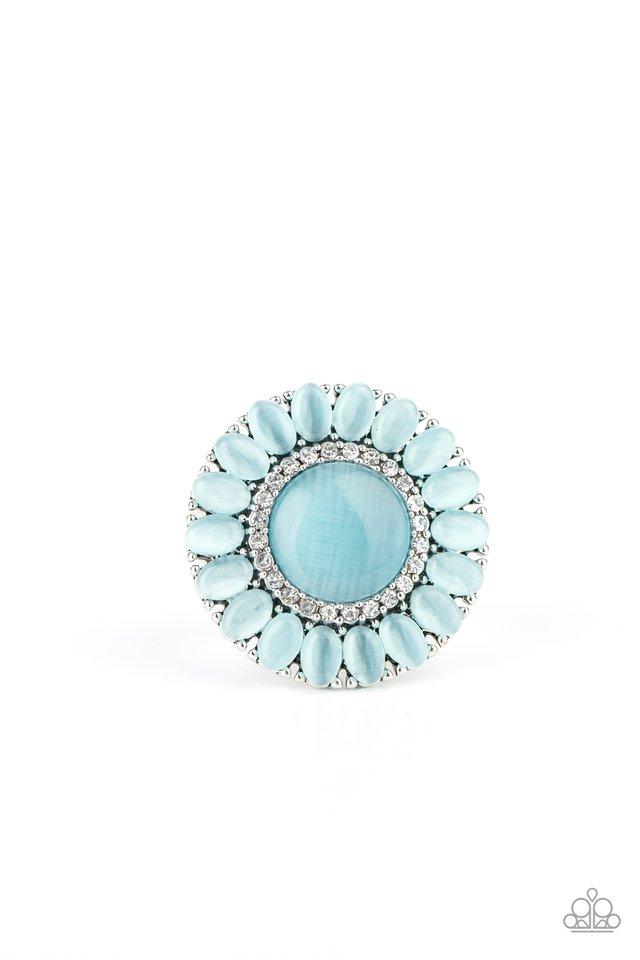 Elegantly Eden - Blue - Paparazzi Ring Image