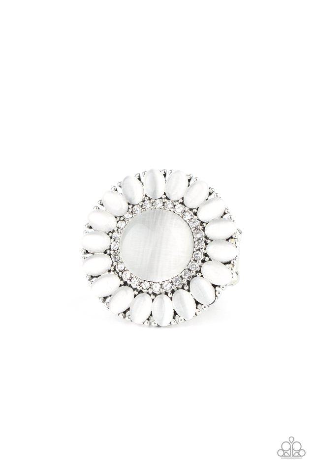 Elegantly Eden - White - Paparazzi Ring Image