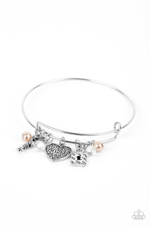 Here Comes Cupid - Brown - Paparazzi Bracelet Image