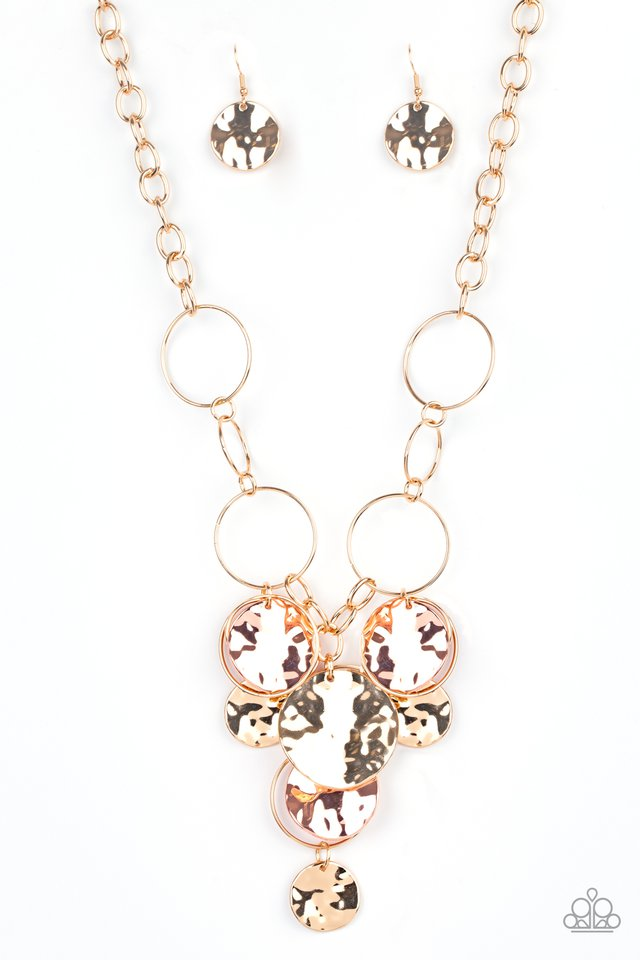 Learn The HARDWARE Way - Gold - Paparazzi Necklace Image