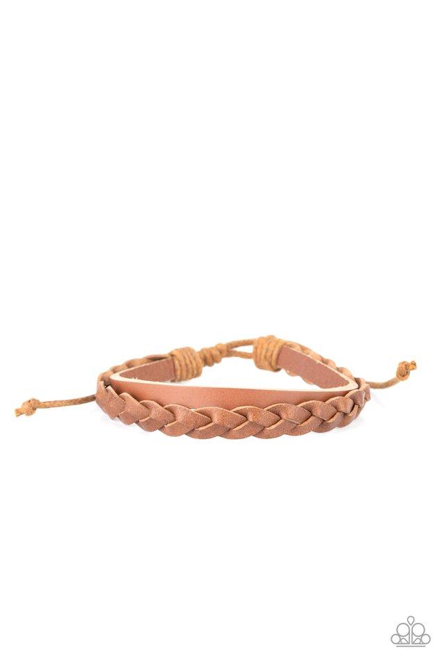 Homespun Harmony - Brown - Paparazzi Bracelet Image