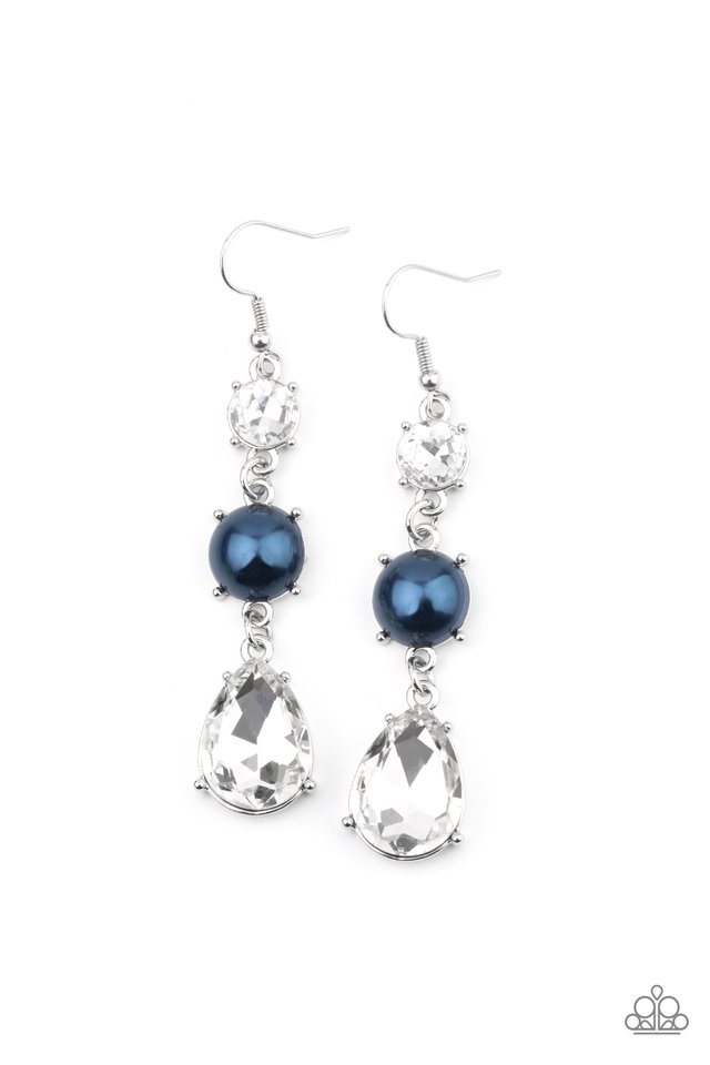 Unpredictable Shimmer - Blue - Paparazzi Earring Image