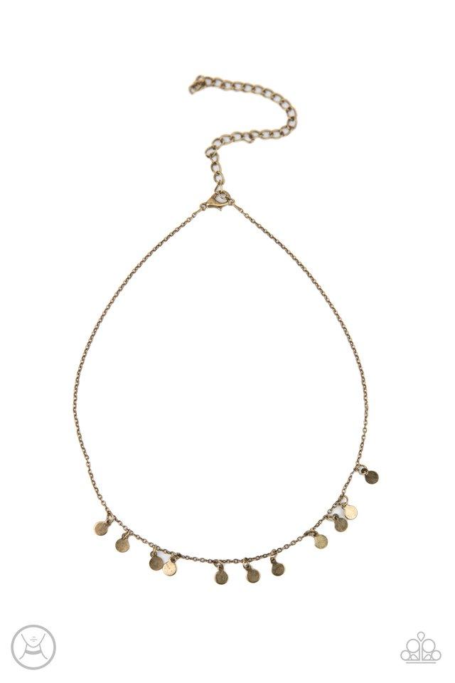 Ready, Set, DISCO! - Brass - Paparazzi Necklace Image