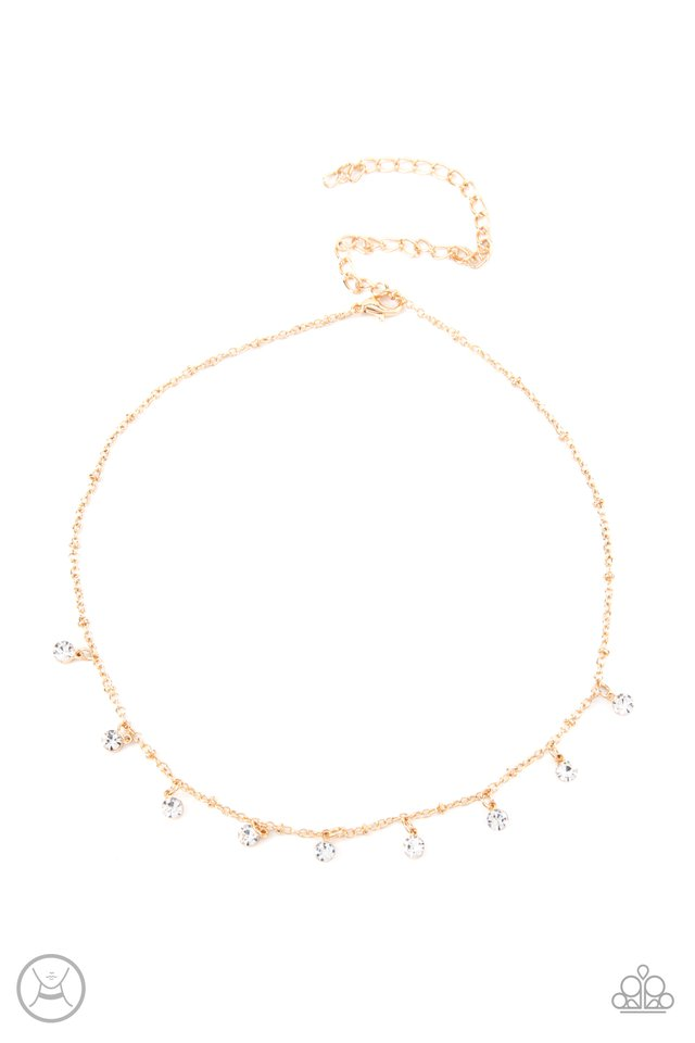 Dainty Diva - Gold - Paparazzi Necklace Image
