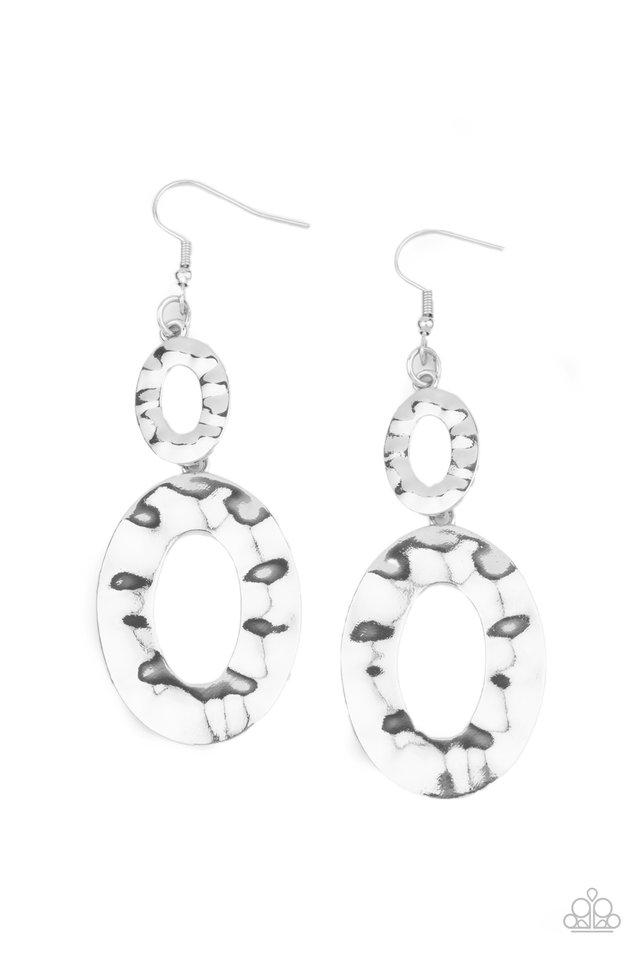 Bring On The Basics - Silver - Paparazzi Earring Image