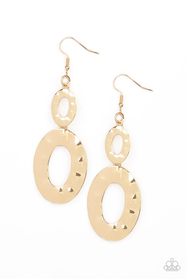 Bring On The Basics - Gold - Paparazzi Earring Image