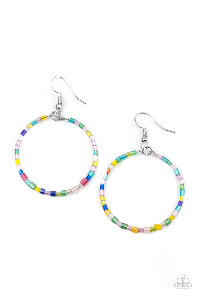 Colorfully Curvy - Multi - Paparazzi Earring Image