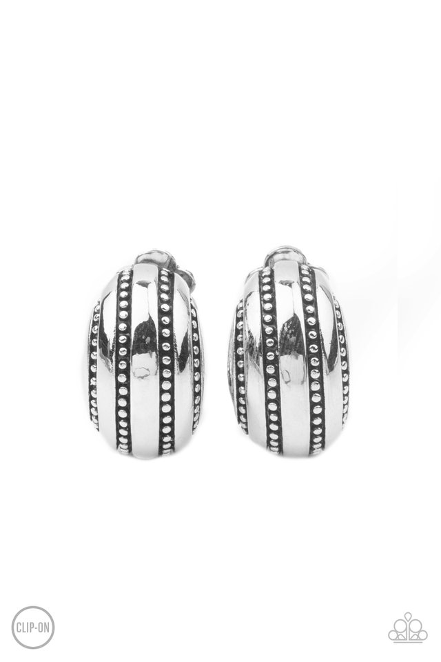 Rural Expressions - Silver - Paparazzi Earring Image