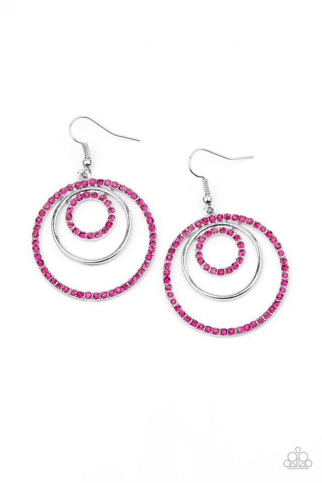 Bodaciously Bubbly - Pink - Paparazzi Earring Image