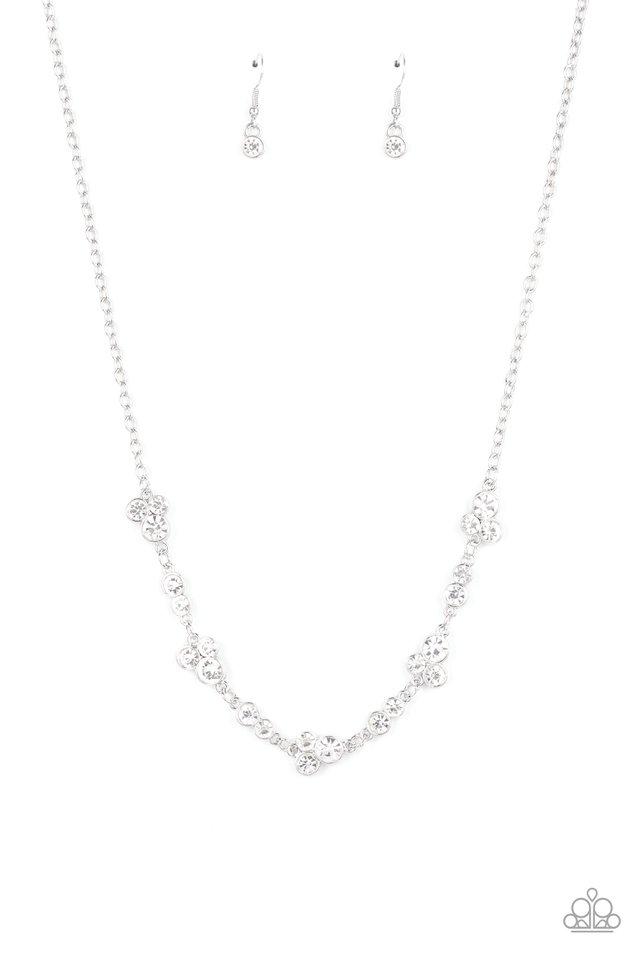 Gorgeously Glistening - White - Paparazzi Necklace Image