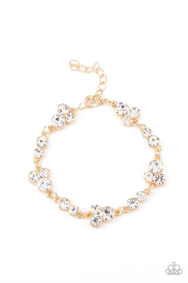 Social GLISTENING - Gold - Paparazzi Bracelet Image