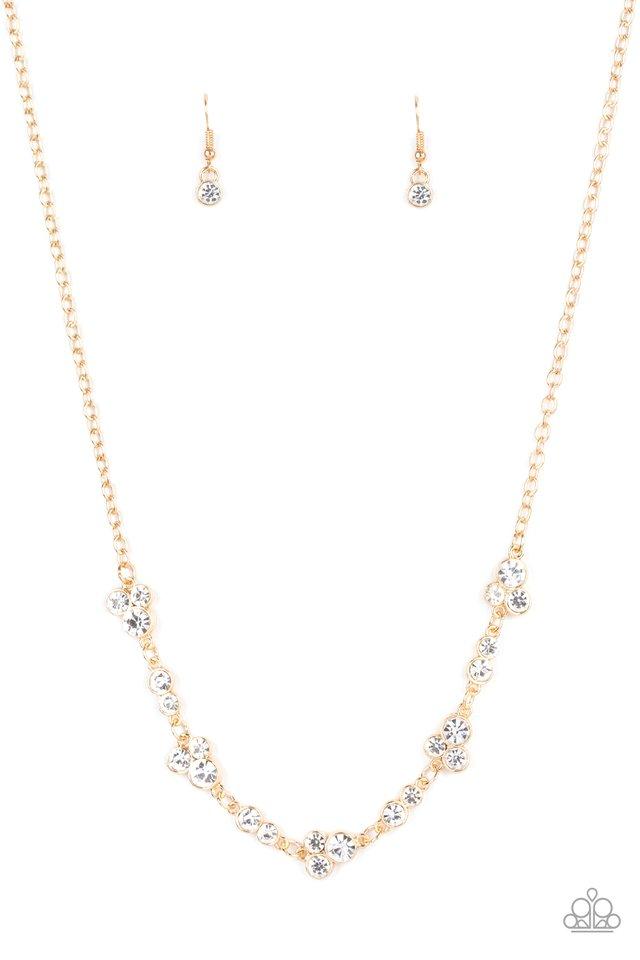 Gorgeously Glistening - Gold - Paparazzi Necklace Image