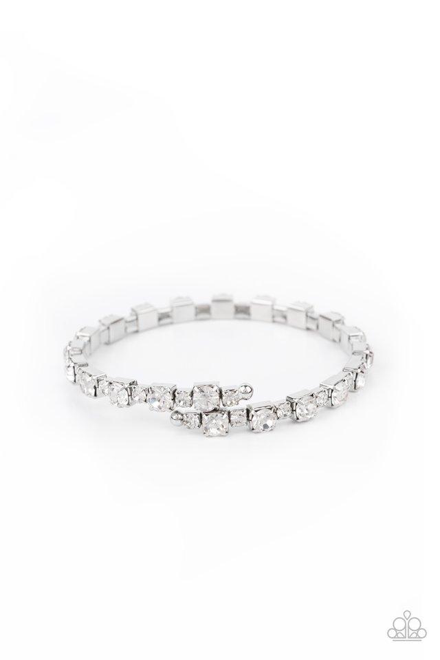 Photo Op - White - Paparazzi Bracelet Image