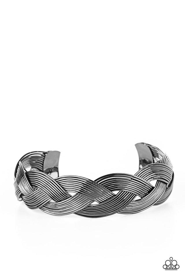 Woven Wonder - Black - Paparazzi Bracelet Image
