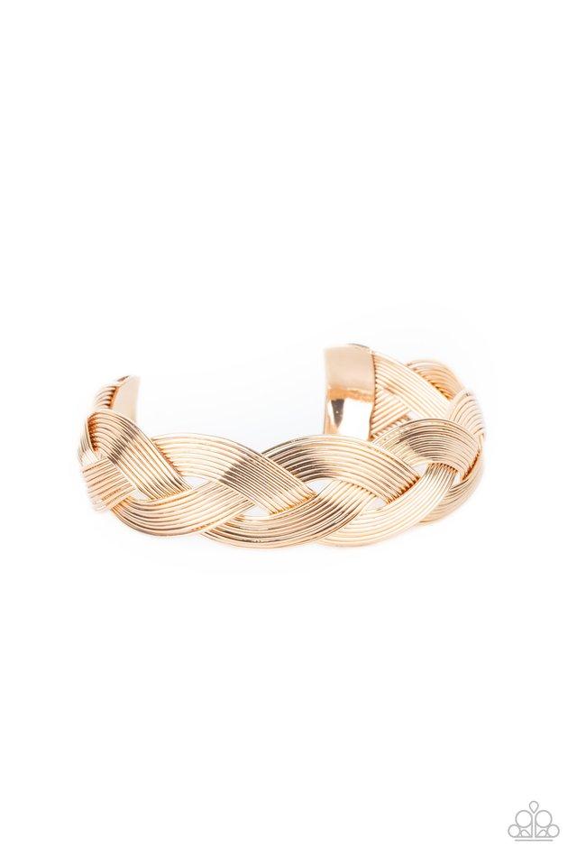 Woven Wonder - Gold - Paparazzi Bracelet Image