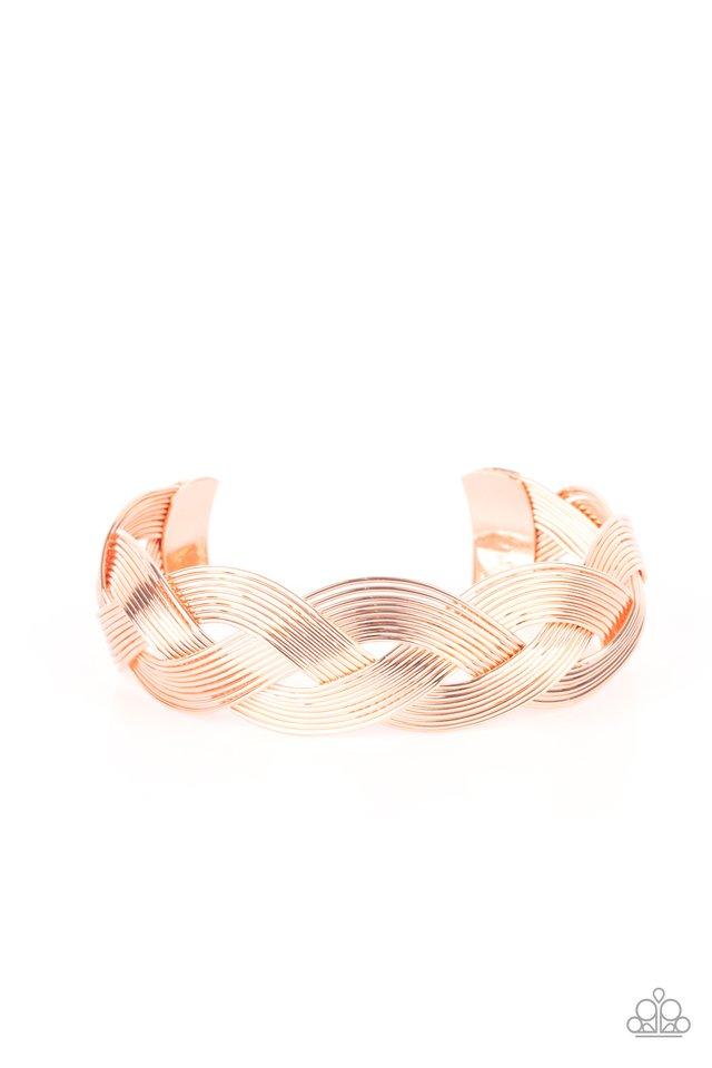 Woven Wonder - Copper - Paparazzi Bracelet Image