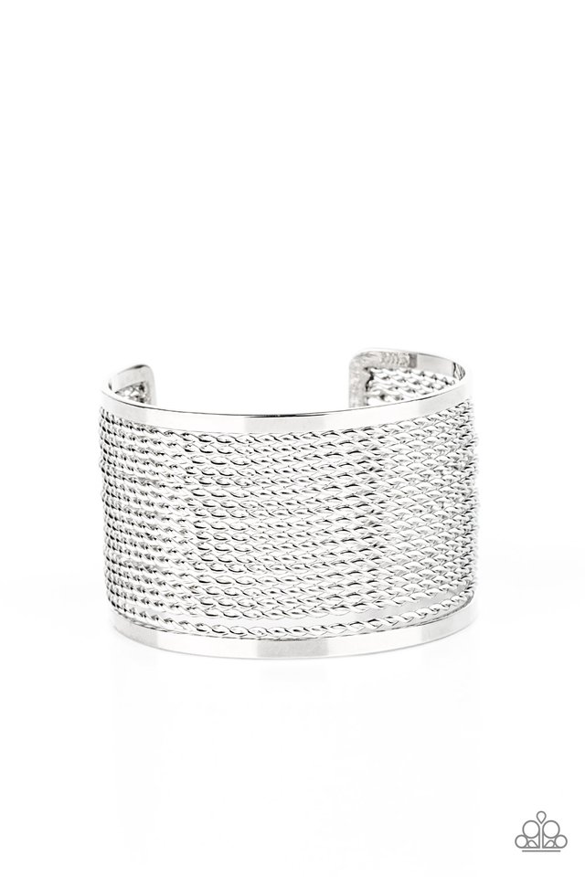 Stacked Sensation - Silver - Paparazzi Bracelet Image