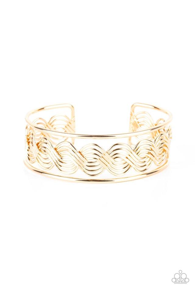 WEAVE An Impression - Gold - Paparazzi Bracelet Image