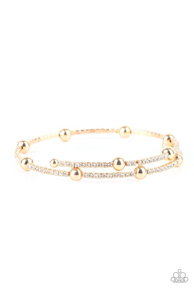 Standout Shimmer - Gold - Paparazzi Bracelet Image