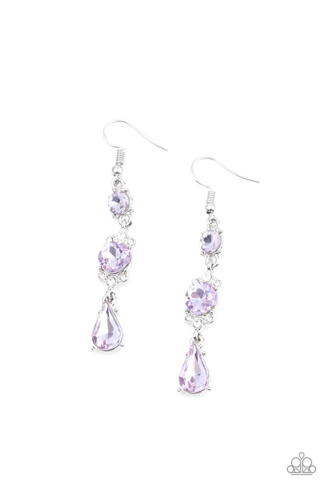 Outstanding Opulence - Purple - Paparazzi Earring Image