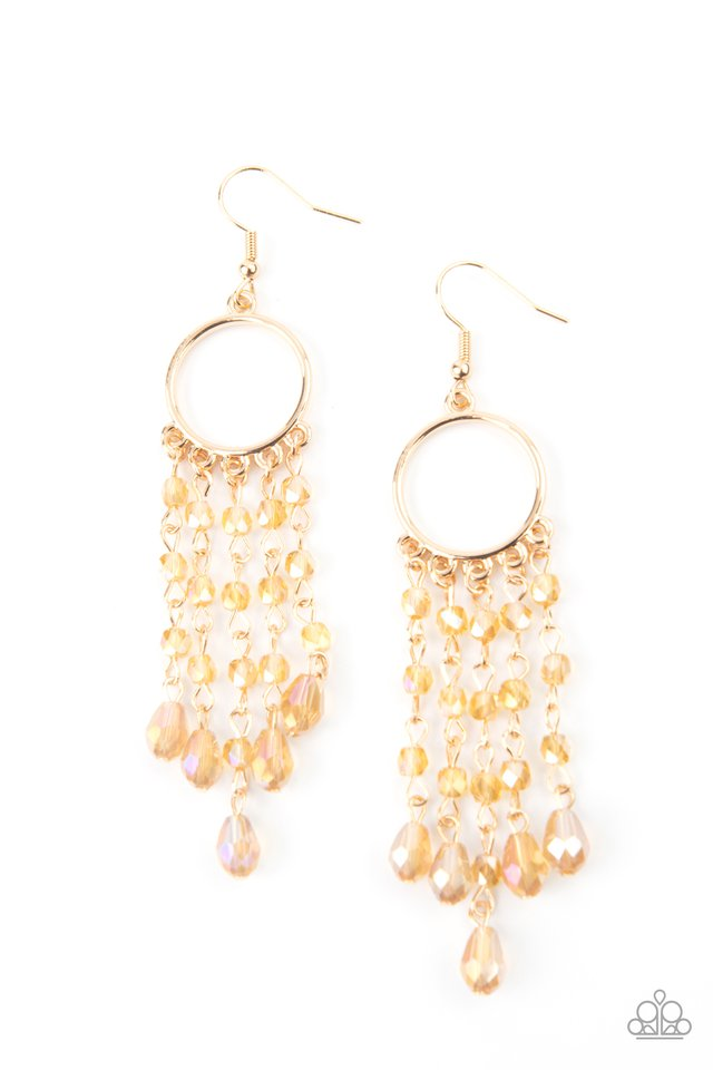 Dazzling Delicious - Gold - Paparazzi Earring Image