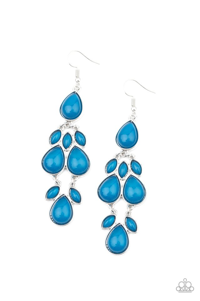 Superstar Social - Blue - Paparazzi Earring Image