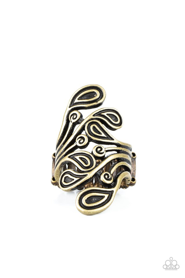FRILL In The Blank - Brass - Paparazzi Ring Image