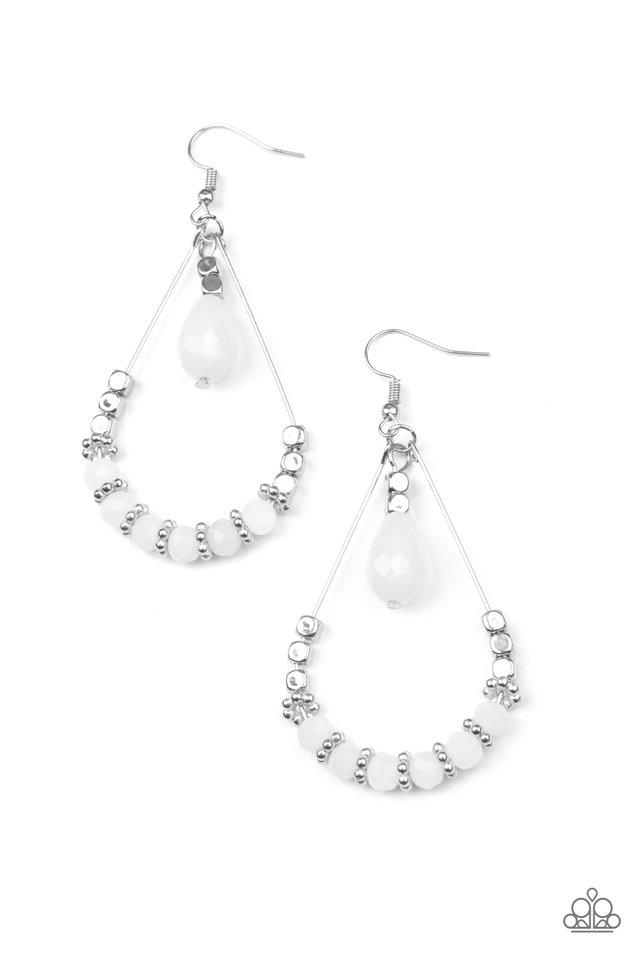 Lovely Lucidity - White - Paparazzi Earring Image