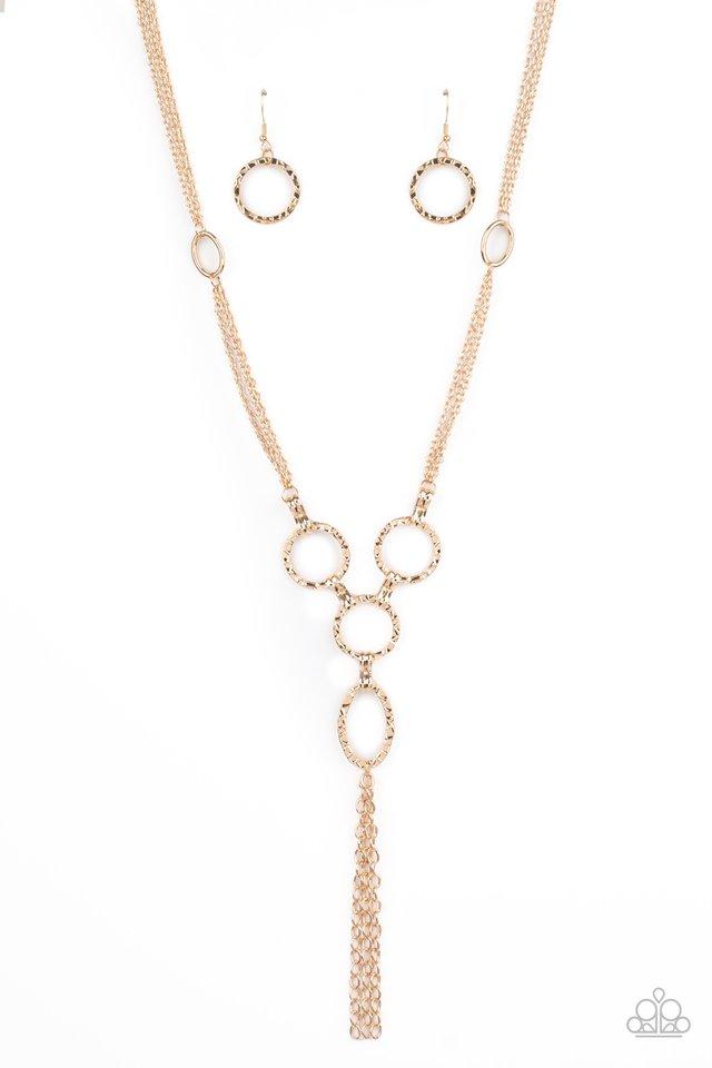 Metro Mechanics - Gold - Paparazzi Necklace Image