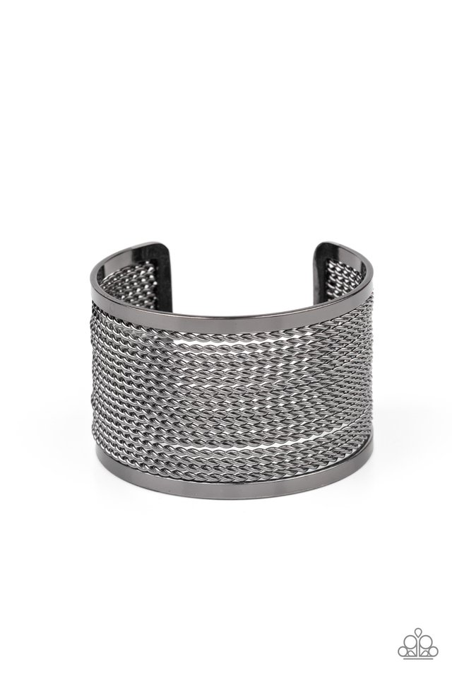 Stacked Sensation - Black - Paparazzi Bracelet Image
