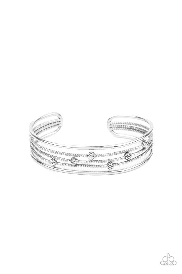 Extra Expressive - Silver - Paparazzi Bracelet Image