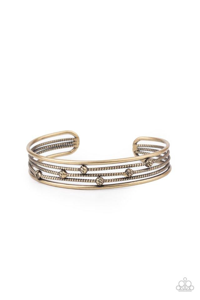 Extra Expressive - Brass - Paparazzi Bracelet Image