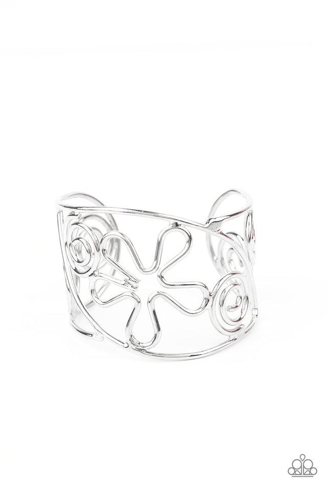 Groovy Sensations - Silver - Paparazzi Bracelet Image