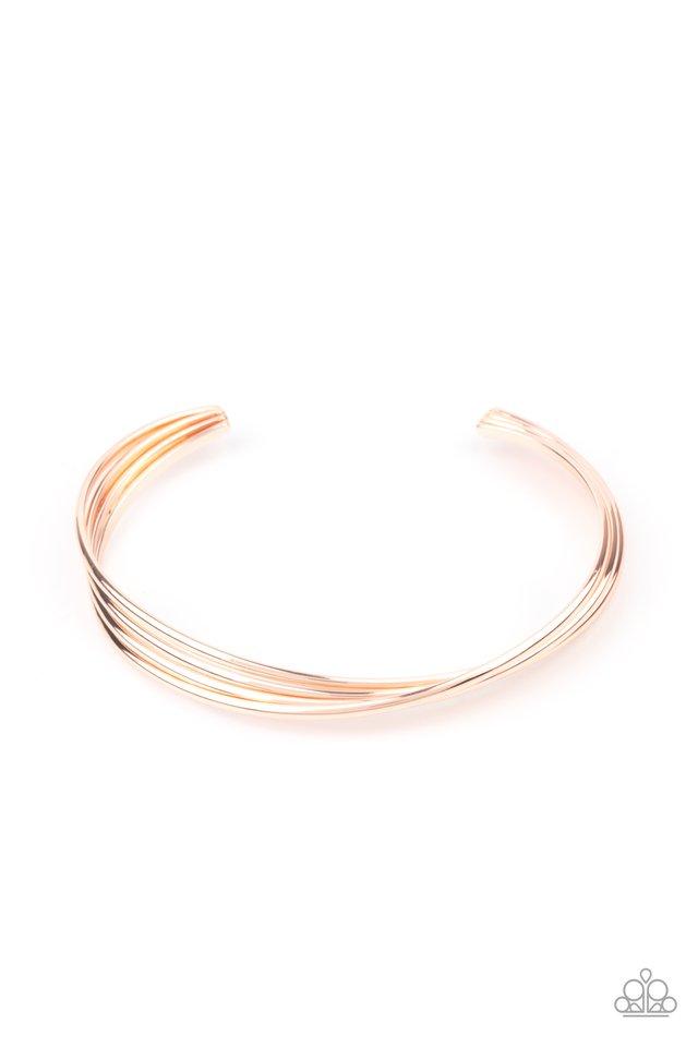 Bringing Basics Back - Rose Gold - Paparazzi Bracelet Image