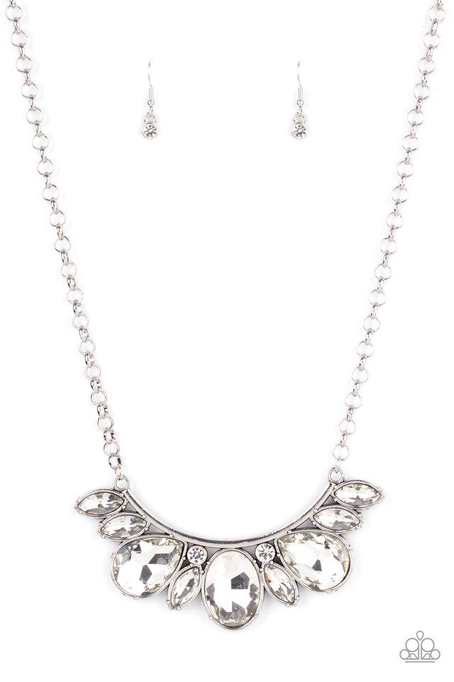 Never SLAY Never - White - Paparazzi Necklace Image