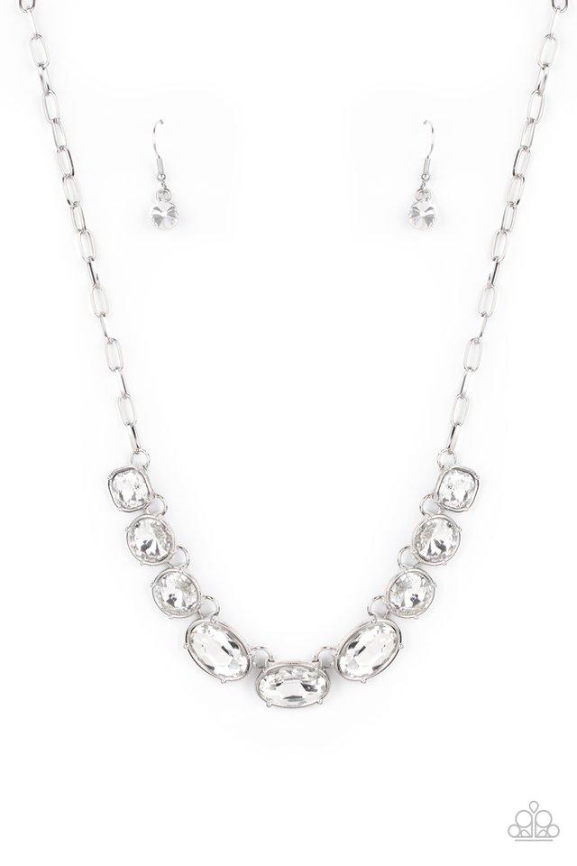 Gorgeously Glacial - White - Paparazzi Necklace Image