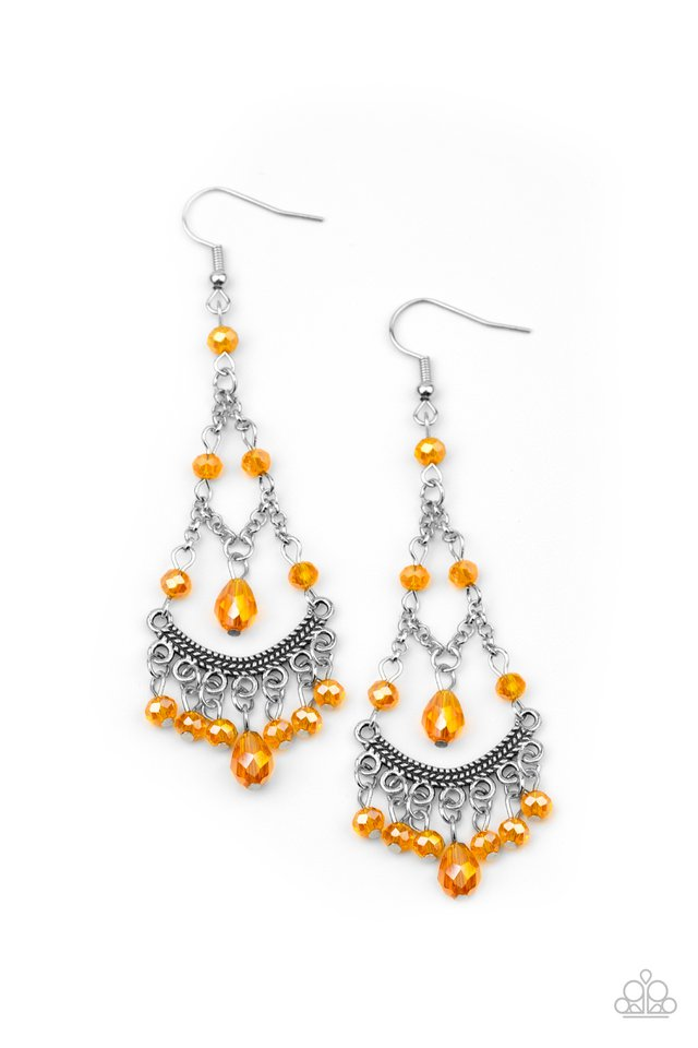 First In SHINE - Orange - Paparazzi Earring Image