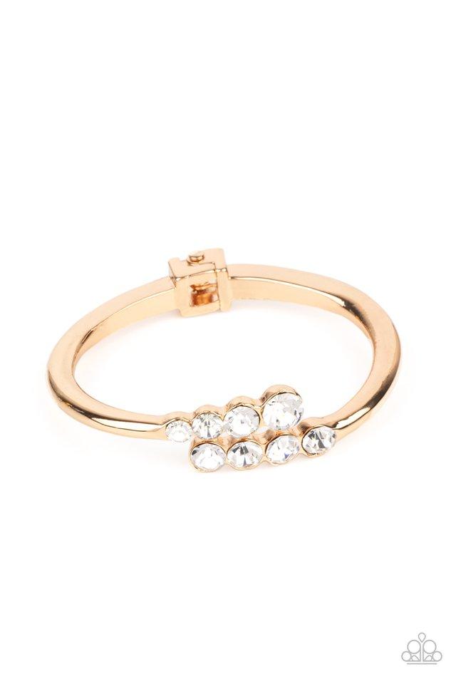 Defying Dazzle - Gold - Paparazzi Bracelet Image