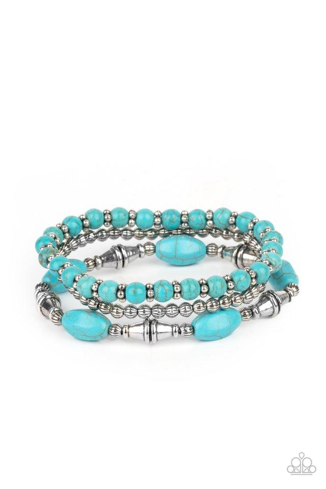 Sahara Sanctuary - Blue - Paparazzi Bracelet Image
