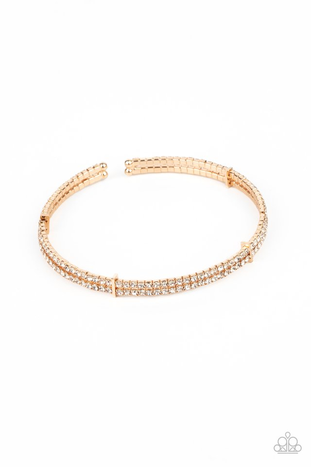 Standout Opulence - Gold - Paparazzi Bracelet Image