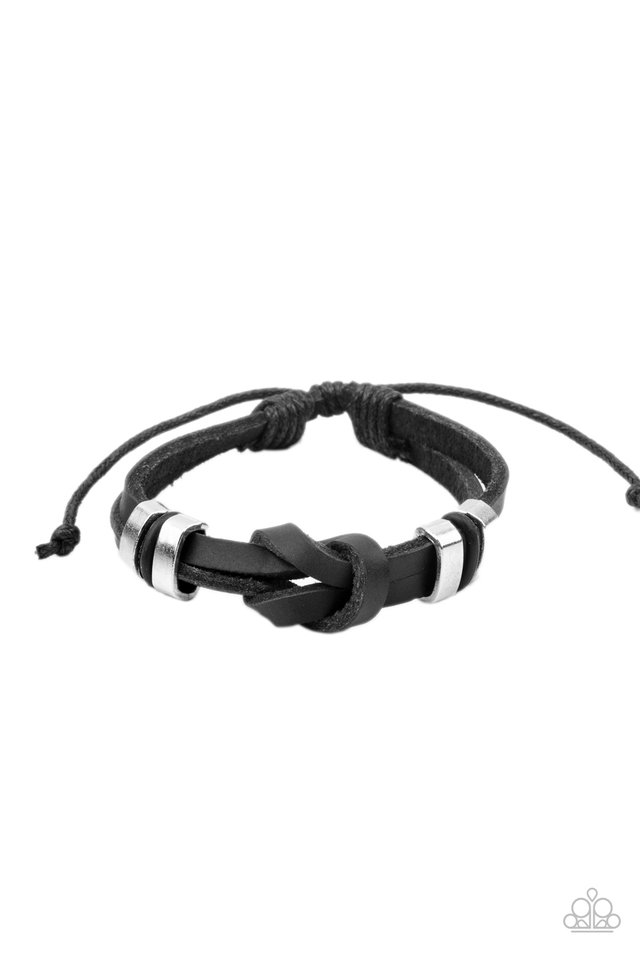 Like It Or KNOT - Black - Paparazzi Bracelet Image
