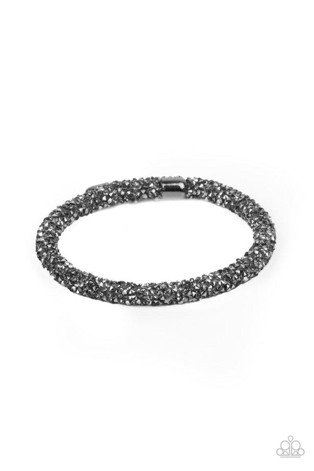 Roll Out The Glitz - Black - Paparazzi Bracelet Image